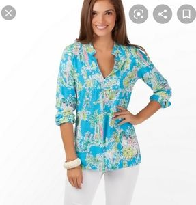Lilly Pulitzer Jungle Toile Glam M